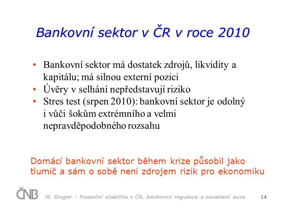 Bankovní sektor v ČR v roce 2010