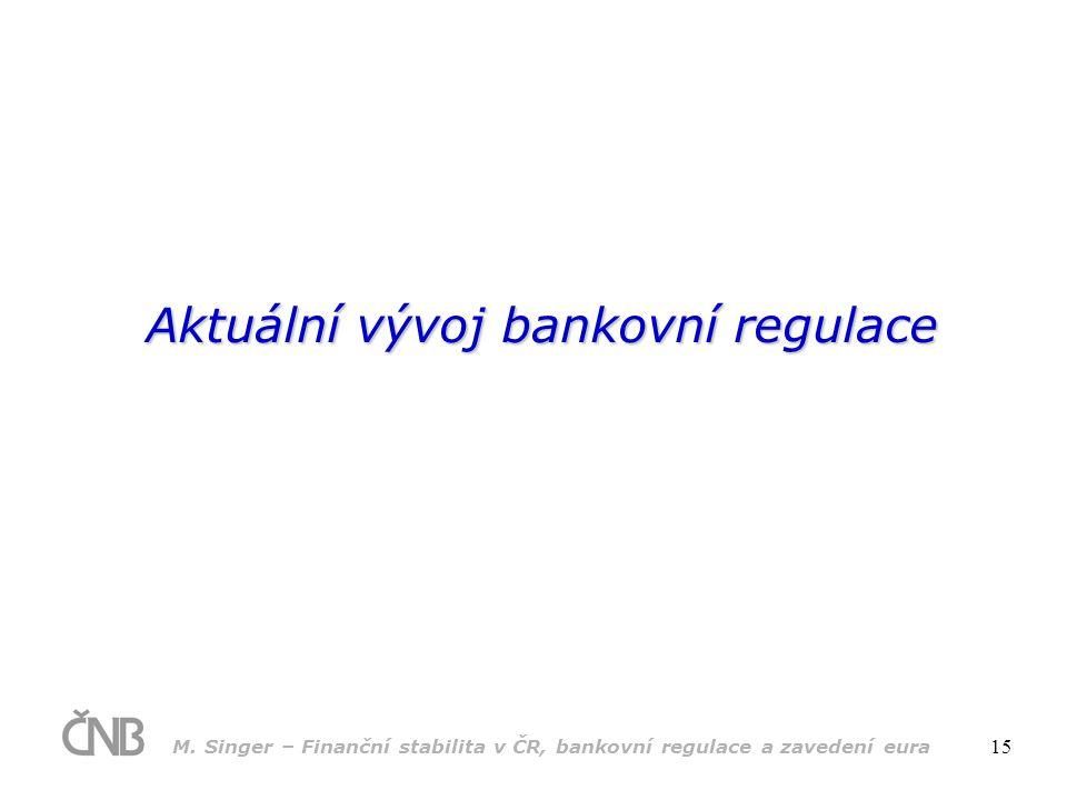 Aktuální vývoj bankovní regulace