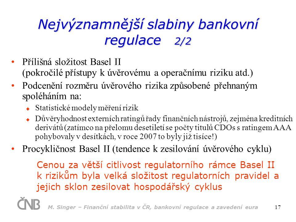 Nejvýznamnější slabiny bankovní regulace 2/2
