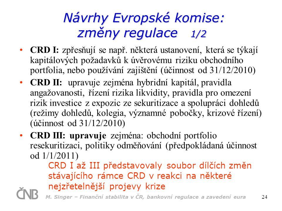 Návrhy Evropské komise: změny regulace 1/2