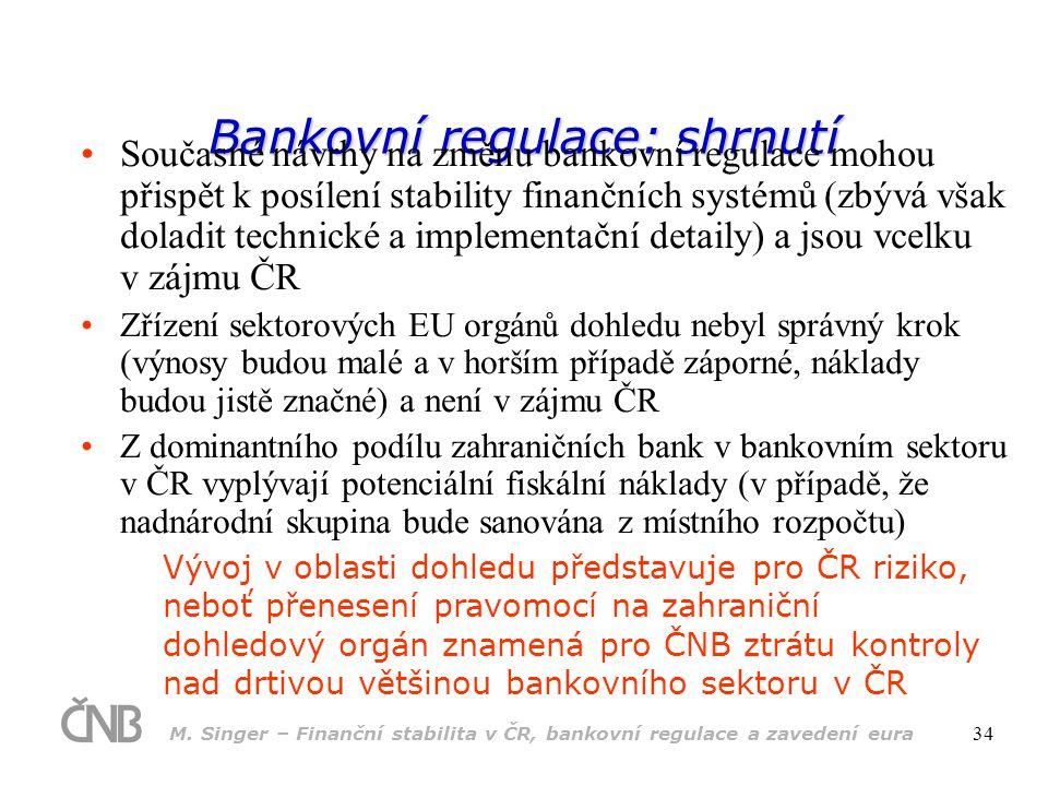 Bankovní regulace: shrnutí