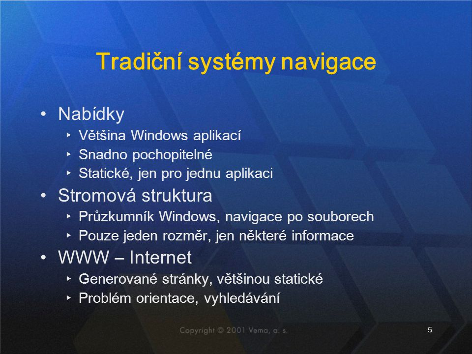 Tradiční systémy navigace