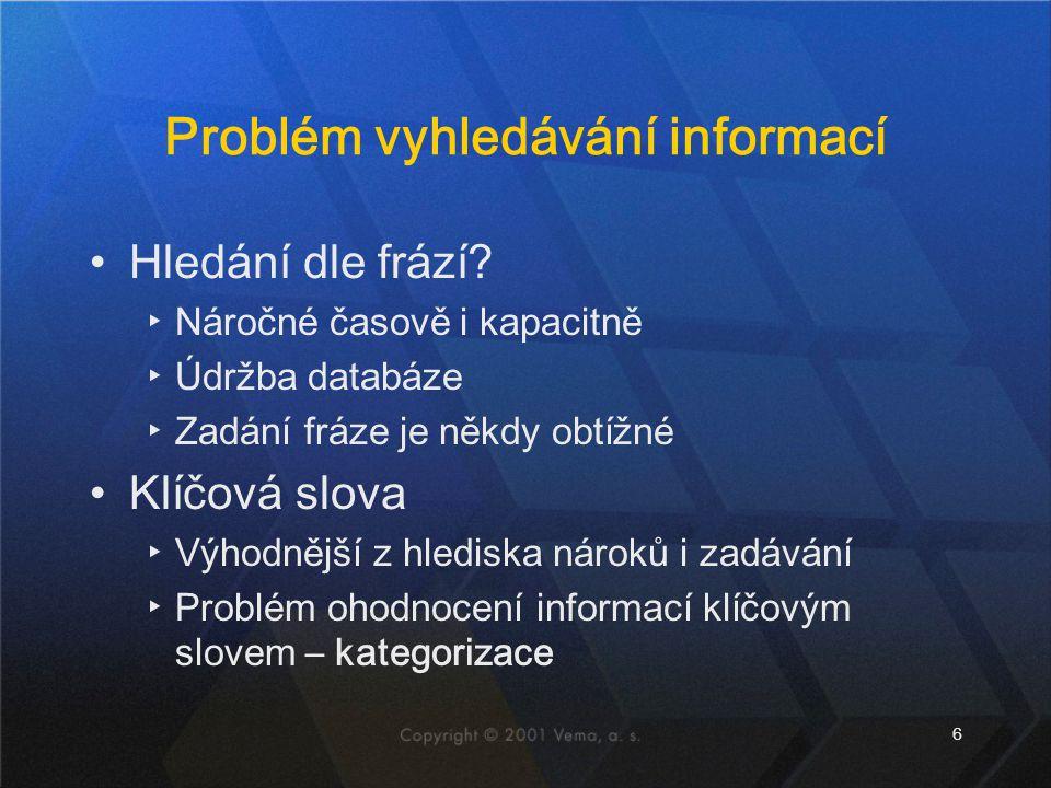 Problém vyhledávání informací