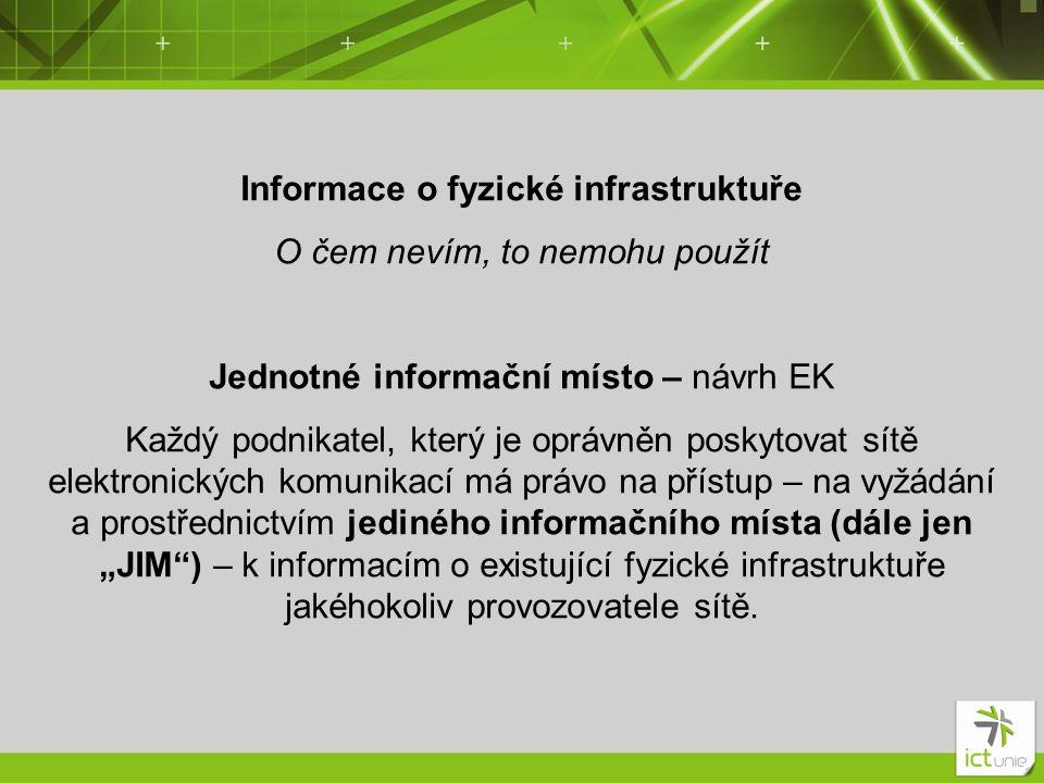 Informace o fyzické infrastruktuře