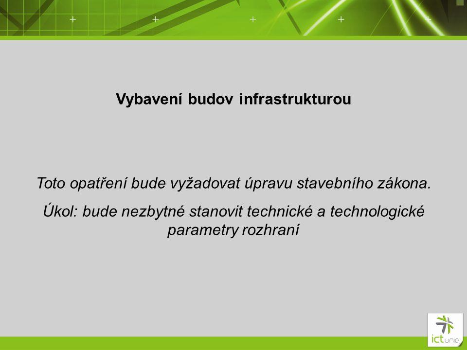 Vybavení budov infrastrukturou