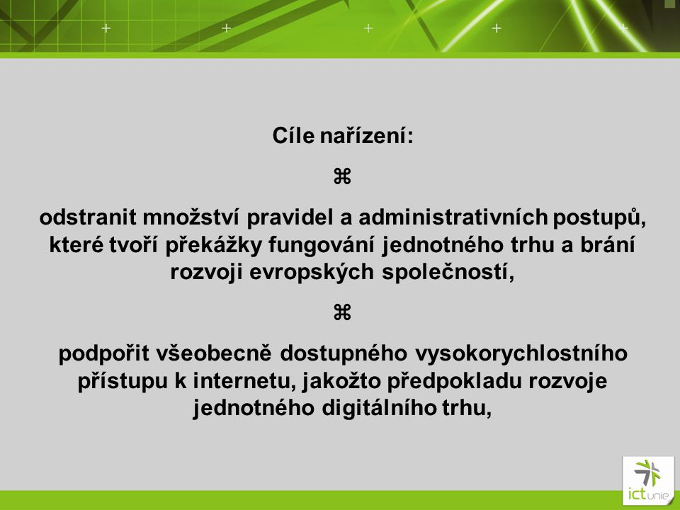 Cíle nařízení: z.