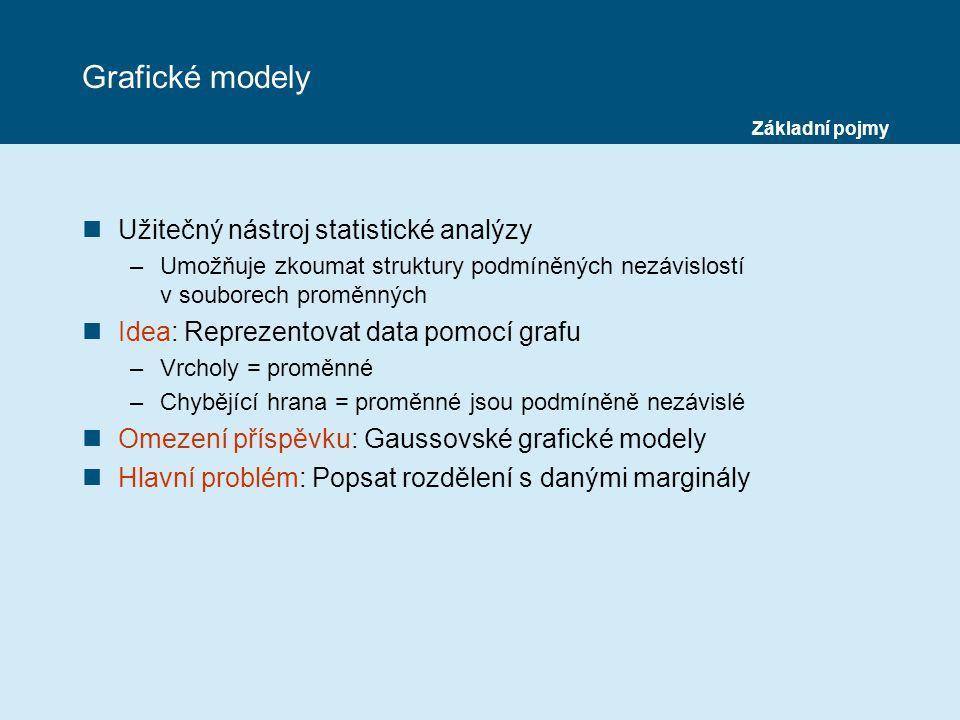 Grafické modely Užitečný nástroj statistické analýzy
