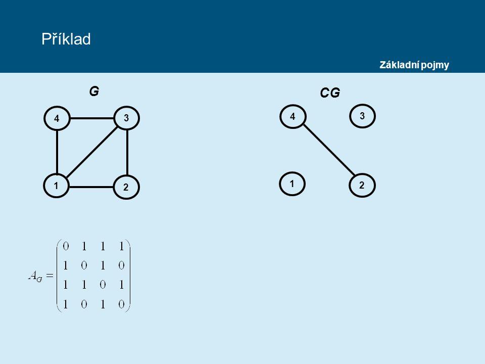 Příklad Základní pojmy G CG 4 3 4 3 1 2 1 2