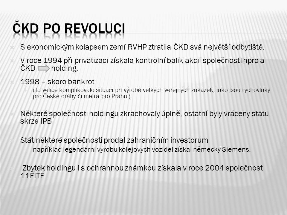 Čkd po revoluci S ekonomickým kolapsem zemí RVHP ztratila ČKD svá největší odbytiště.