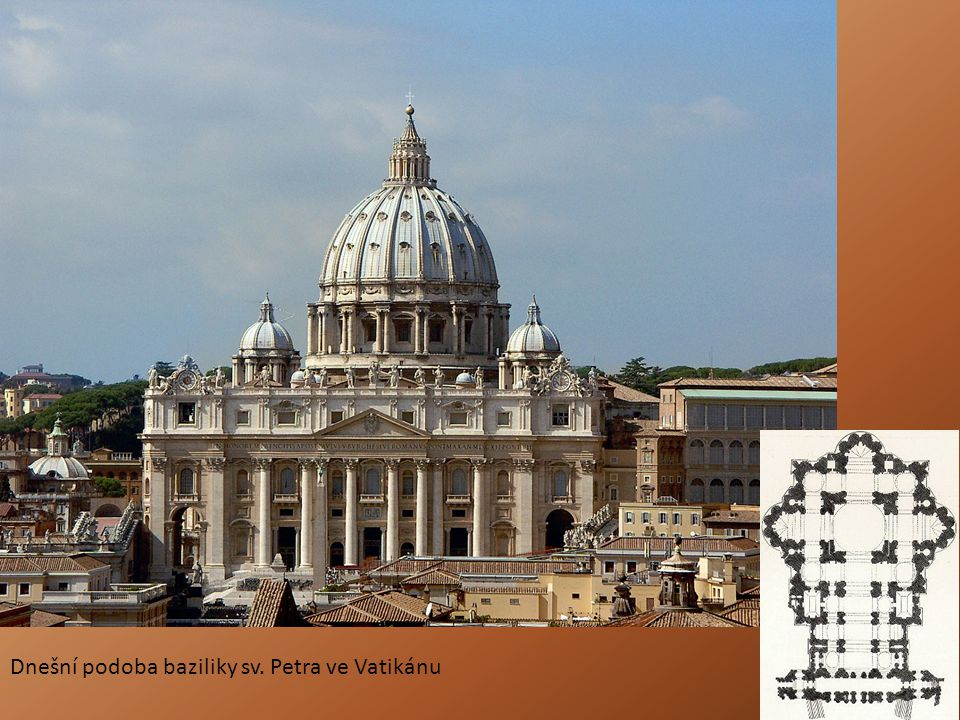 Dnešní podoba baziliky sv. Petra ve Vatikánu