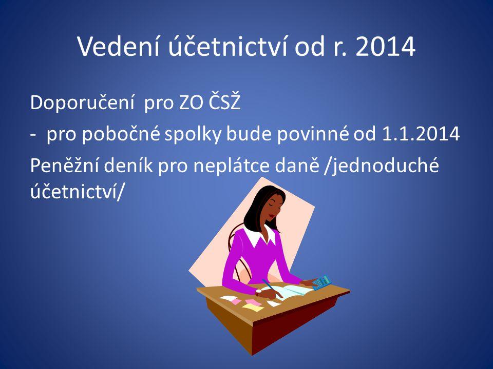 Vedení účetnictví od r. 2014