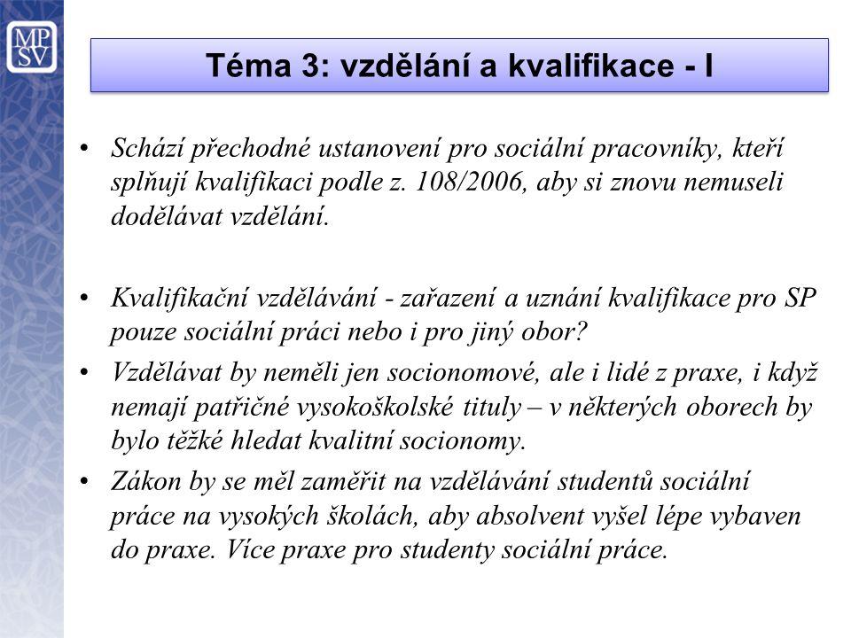 Téma 3: vzdělání a kvalifikace - I