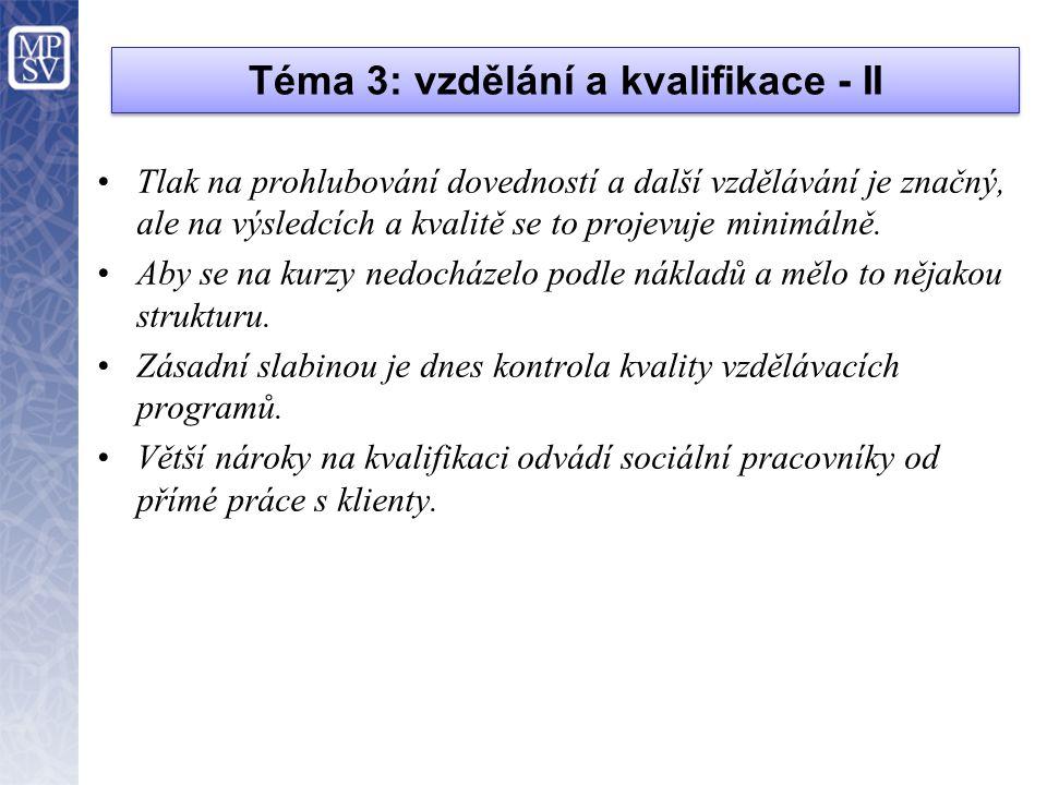 Téma 3: vzdělání a kvalifikace - II