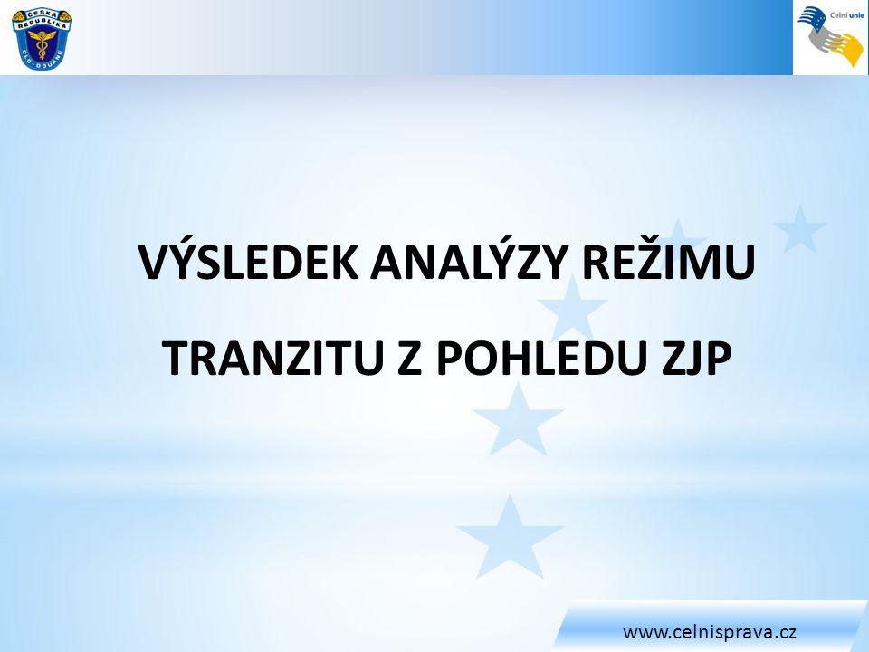 Výsledek analýzy režimu tranzitu z pohledu ZJP