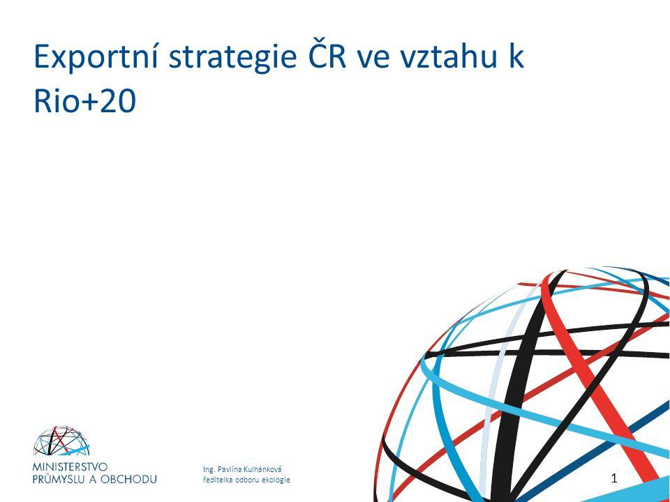 Exportní strategie ČR ve vztahu k Rio+20
