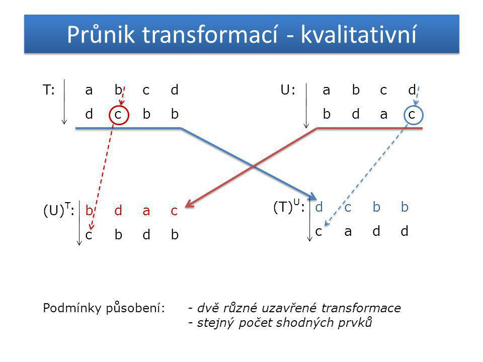 Průnik transformací - kvalitativní