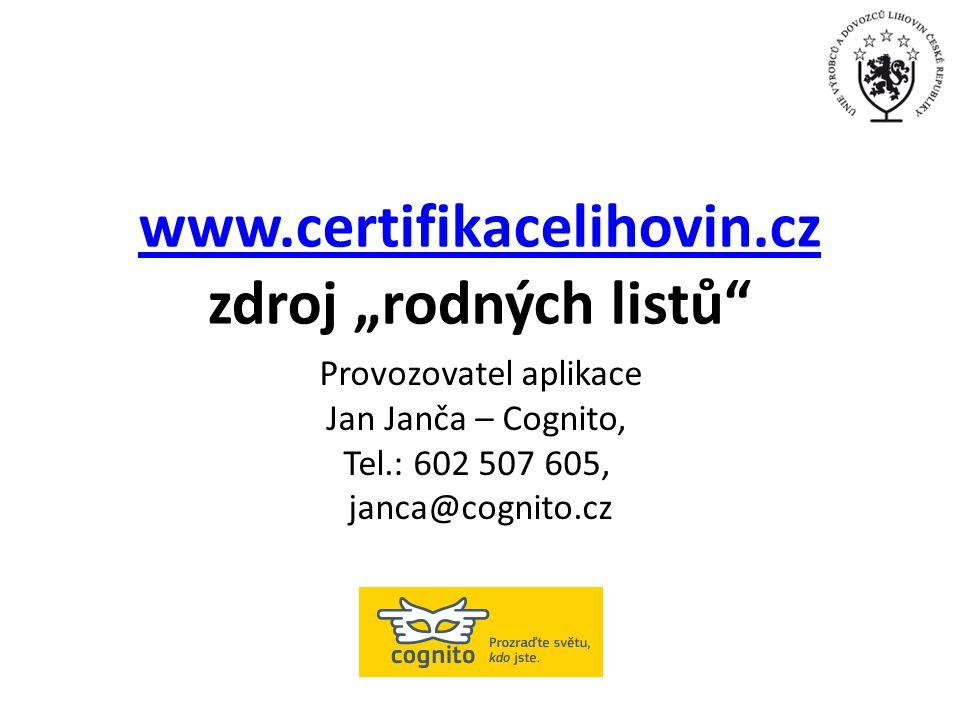 """www.certifikacelihovin.cz zdroj """"rodných listů"""