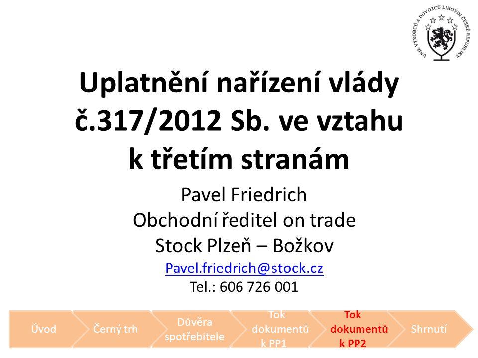 Uplatnění nařízení vlády č.317/2012 Sb. ve vztahu k třetím stranám