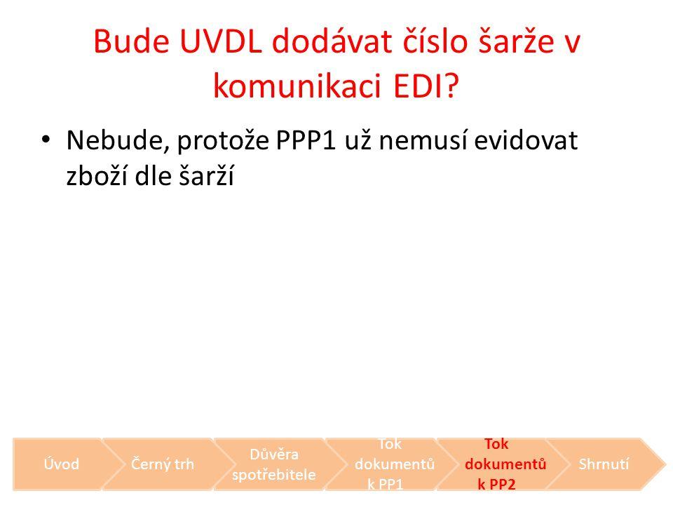 Bude UVDL dodávat číslo šarže v komunikaci EDI