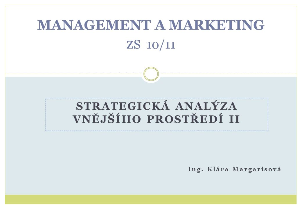MANAGEMENT A MARKETING zS 10/11