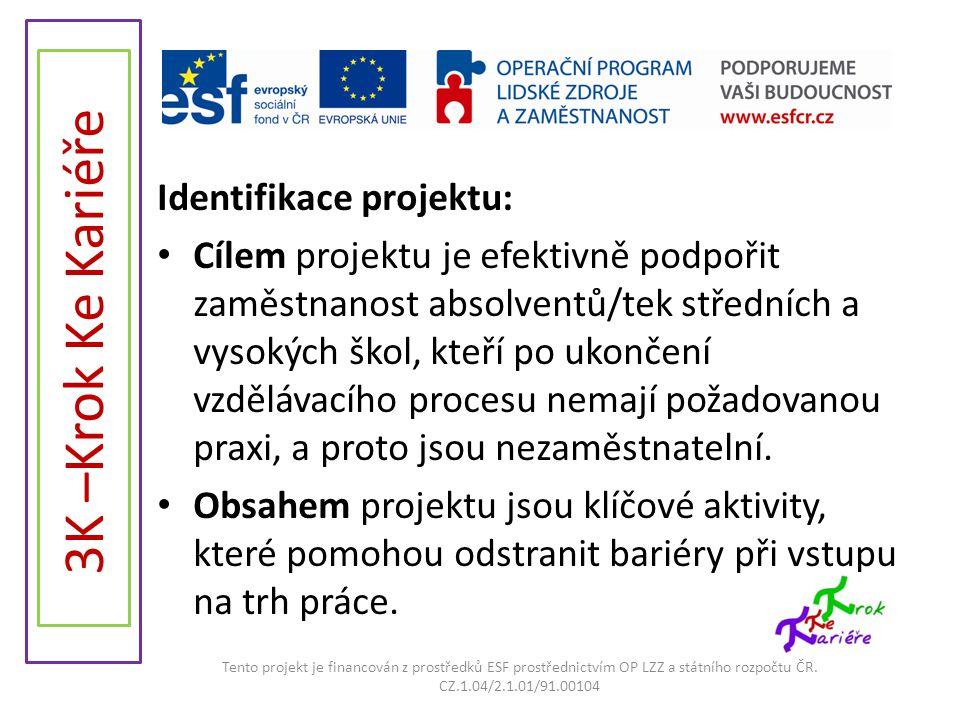 3K –Krok Ke Kariéře Identifikace projektu: