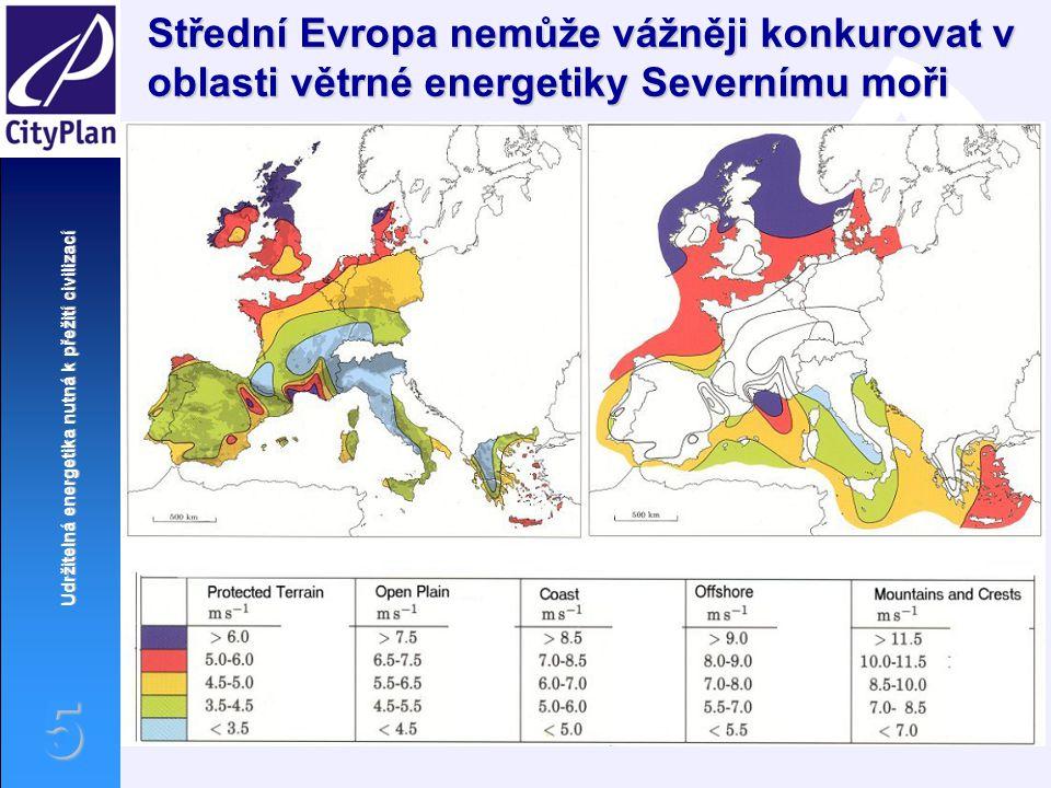 Střední Evropa nemůže vážněji konkurovat v oblasti větrné energetiky Severnímu moři