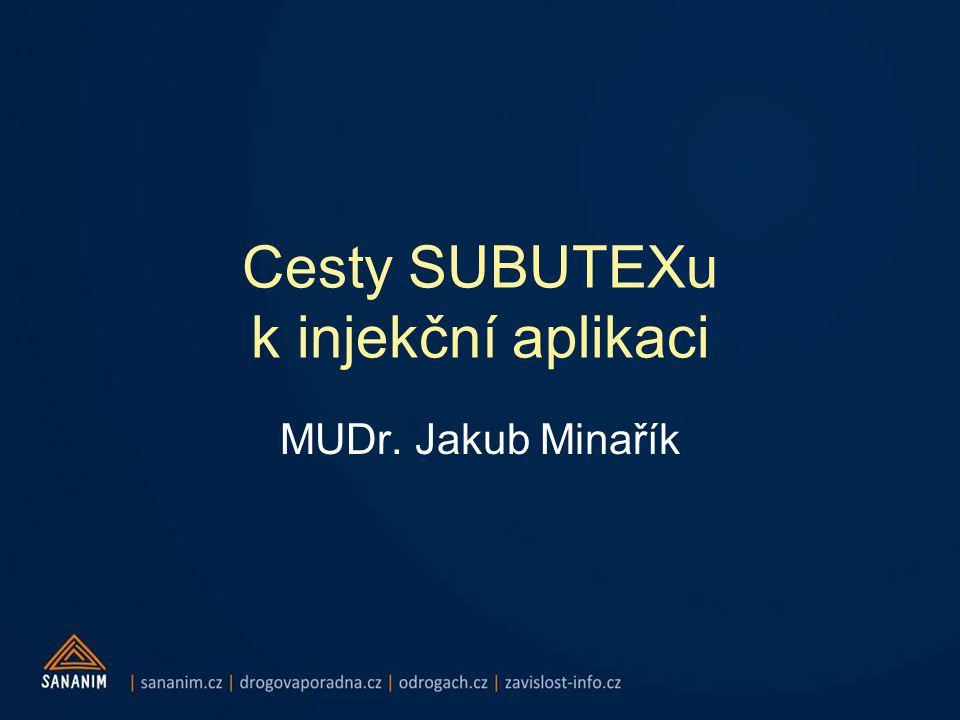 Cesty SUBUTEXu k injekční aplikaci