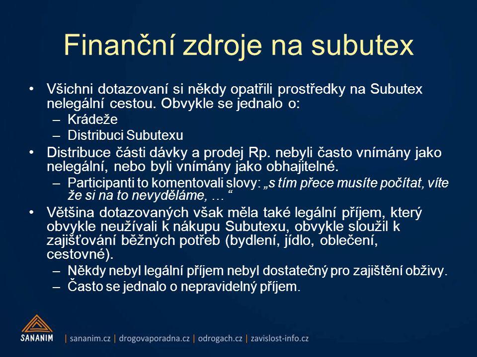Finanční zdroje na subutex