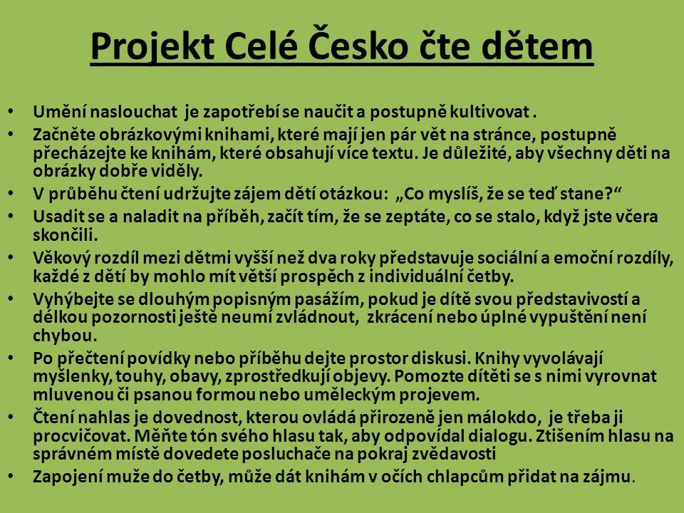 Projekt Celé Česko čte dětem