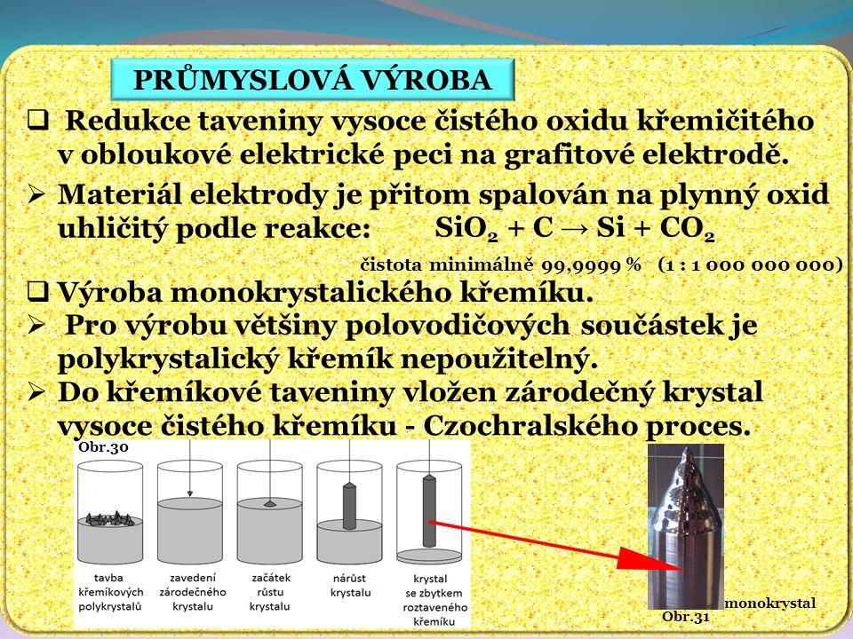 Výroba monokrystalického křemíku.