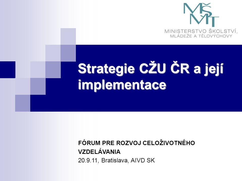 Strategie CŽU ČR a její implementace