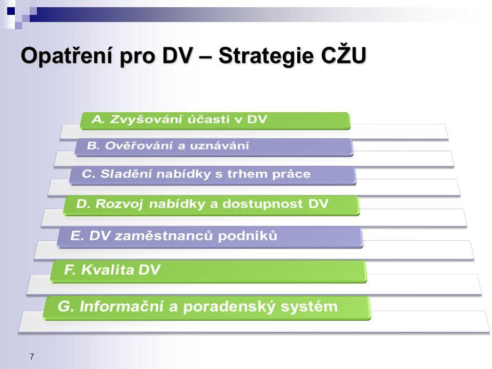 Opatření pro DV – Strategie CŽU