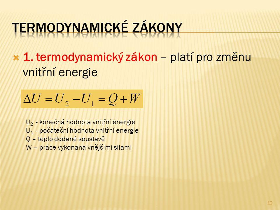 Termodynamické zákony