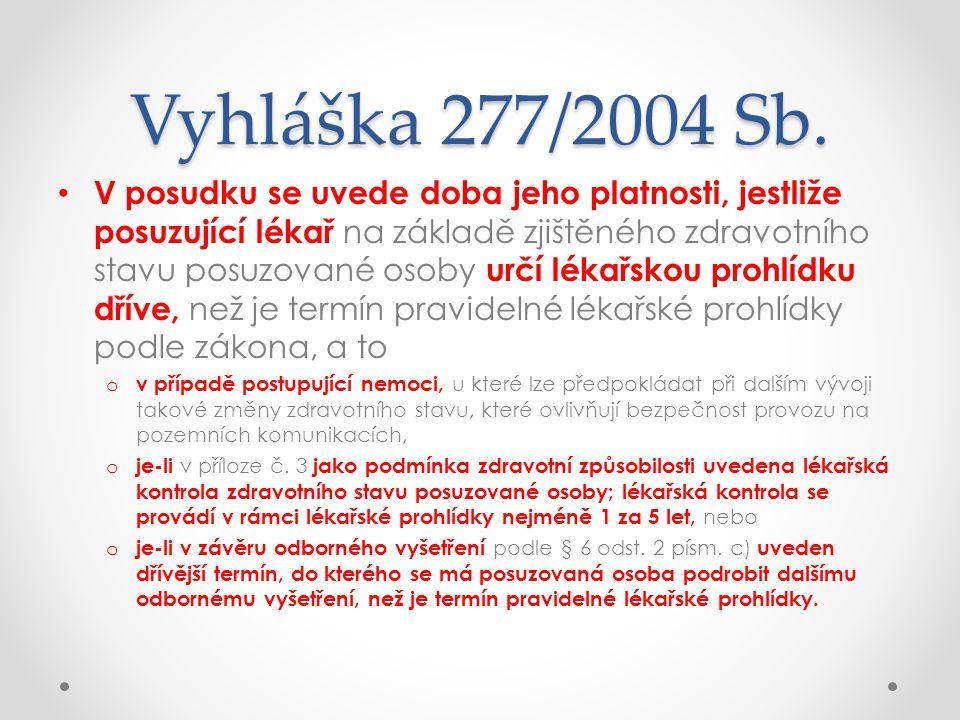 Vyhláška 277/2004 Sb.