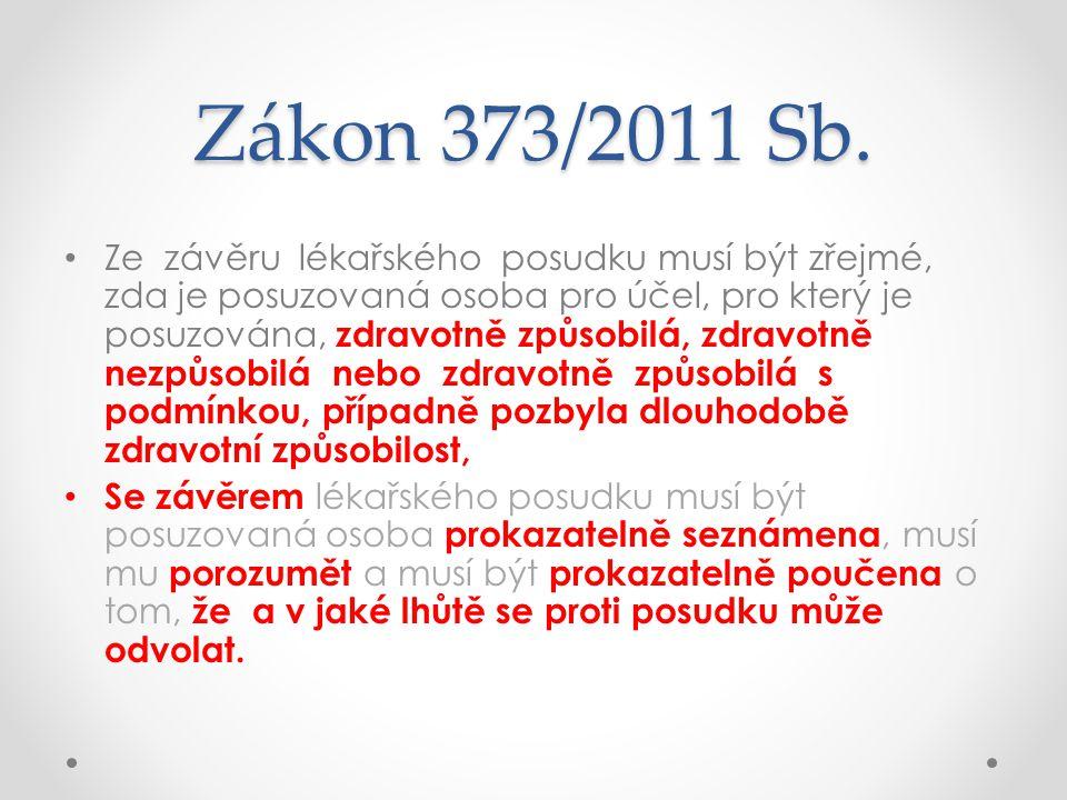 Zákon 373/2011 Sb.