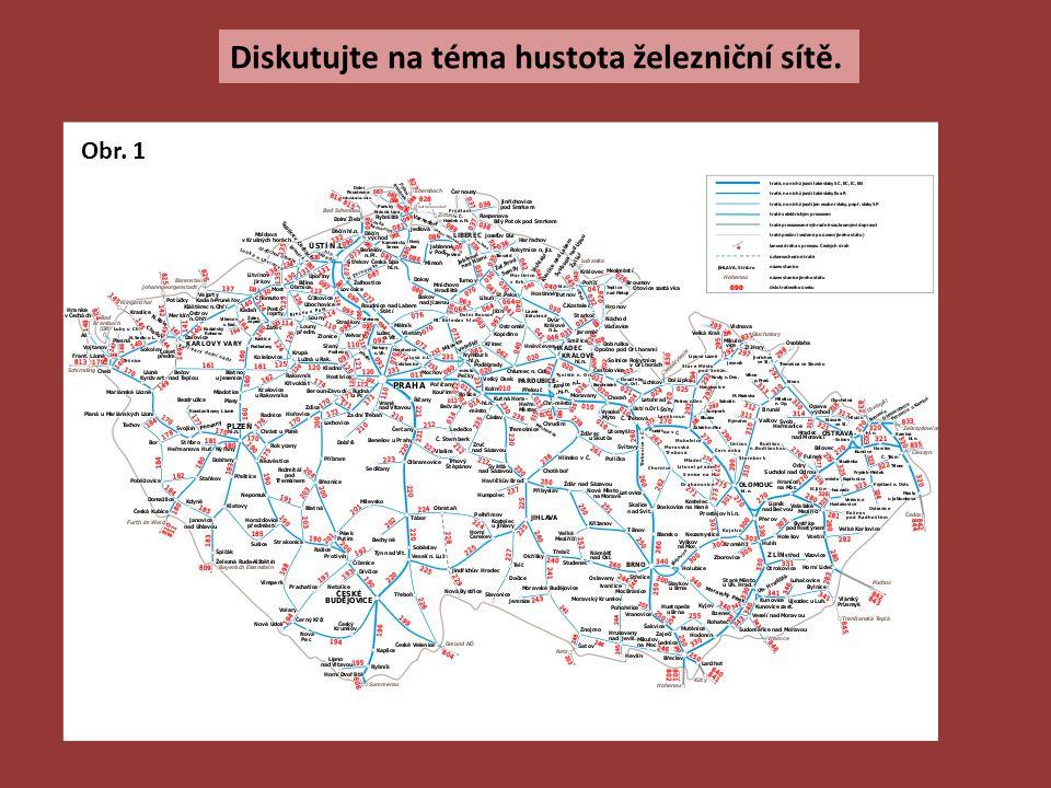 Diskutujte na téma hustota železniční sítě.