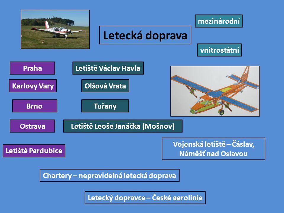 Letecká doprava mezinárodní vnitrostátní Praha Letiště Václav Havla