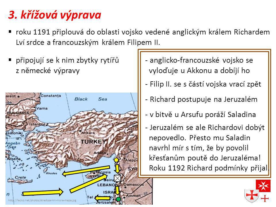3. křížová výprava roku 1191 připlouvá do oblasti vojsko vedené anglickým králem Richardem. Lví srdce a francouzským králem Filipem II.
