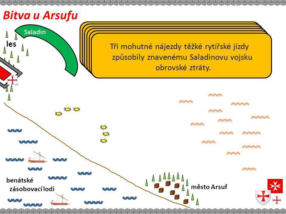 Bitva u Arsufu Doposud lesem chráněné Richardovo vojsko