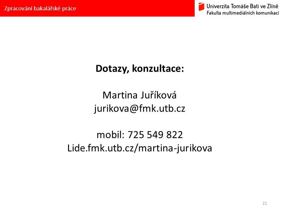 Lide.fmk.utb.cz/martina-jurikova