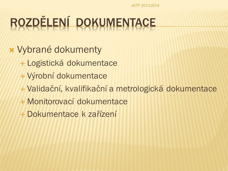 Rozdělení dokumentace