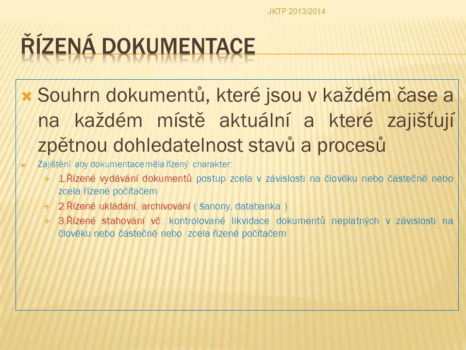 JKTP 2013/2014 Řízená dokumentace.