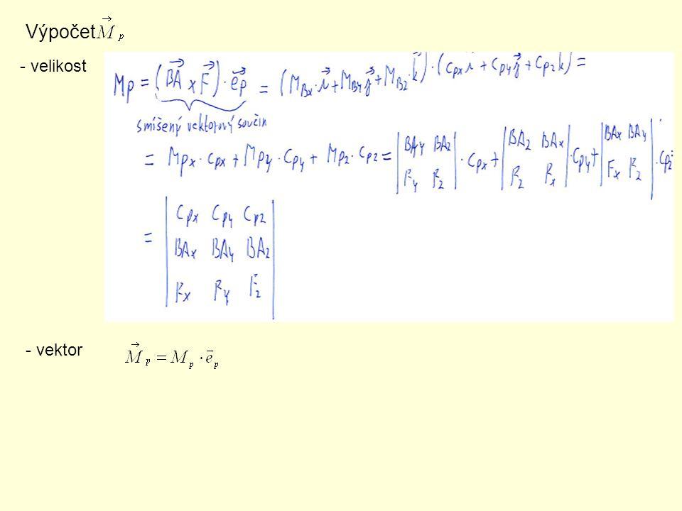 Výpočet - velikost - vektor