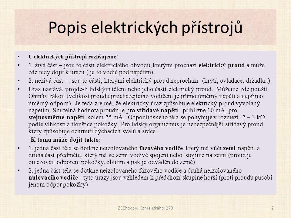 Popis elektrických přístrojů