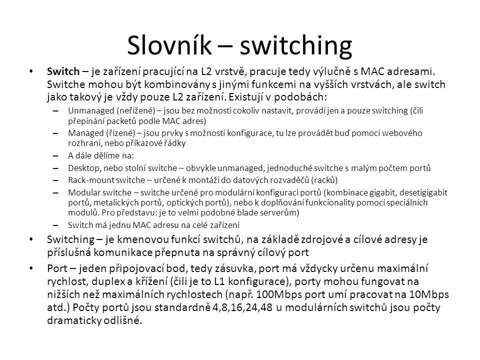 Slovník – switching