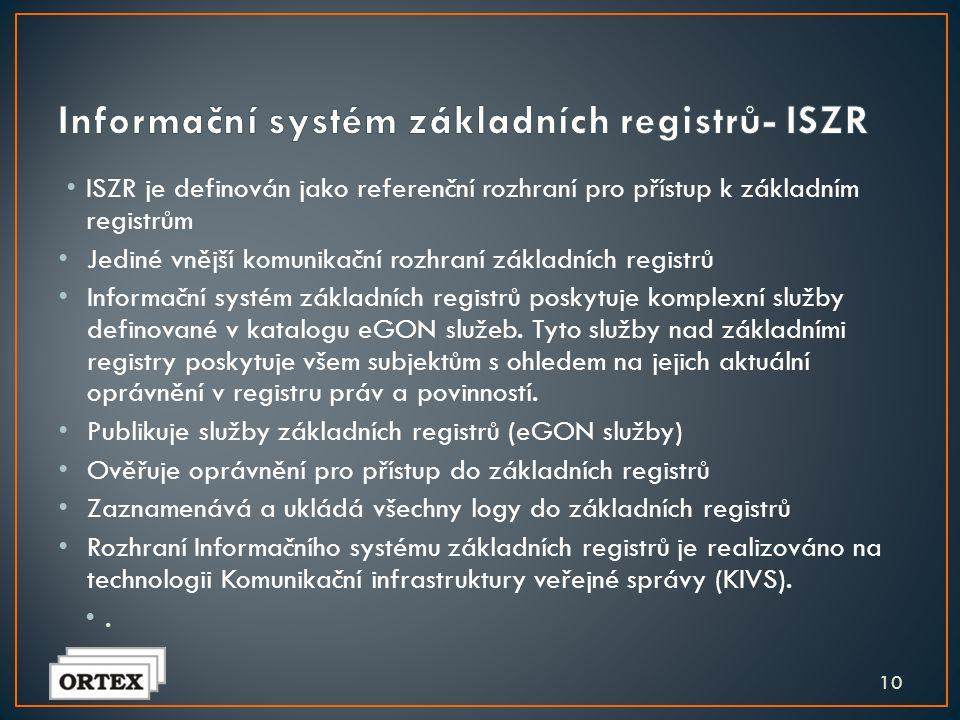 Informační systém základních registrů- ISZR