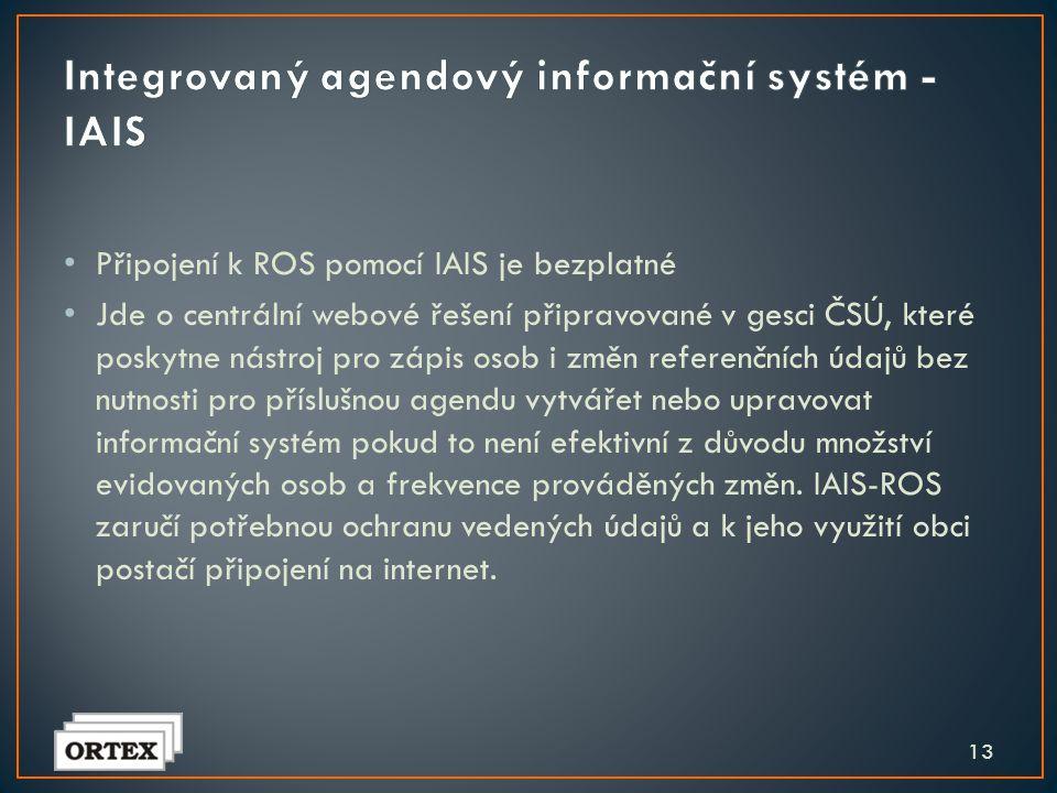 Integrovaný agendový informační systém - IAIS