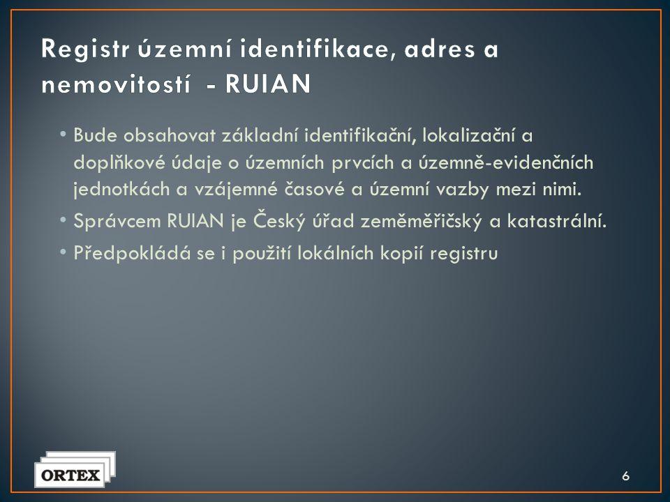 Registr územní identifikace, adres a nemovitostí - RUIAN
