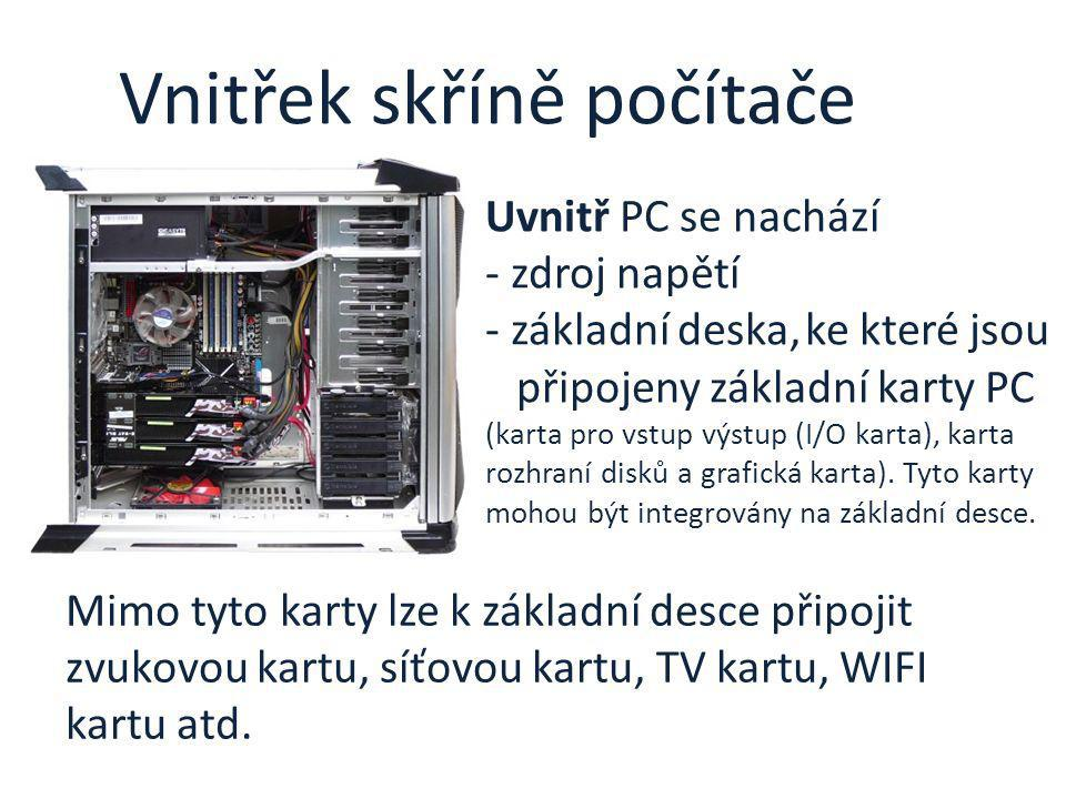 Vnitřek skříně počítače