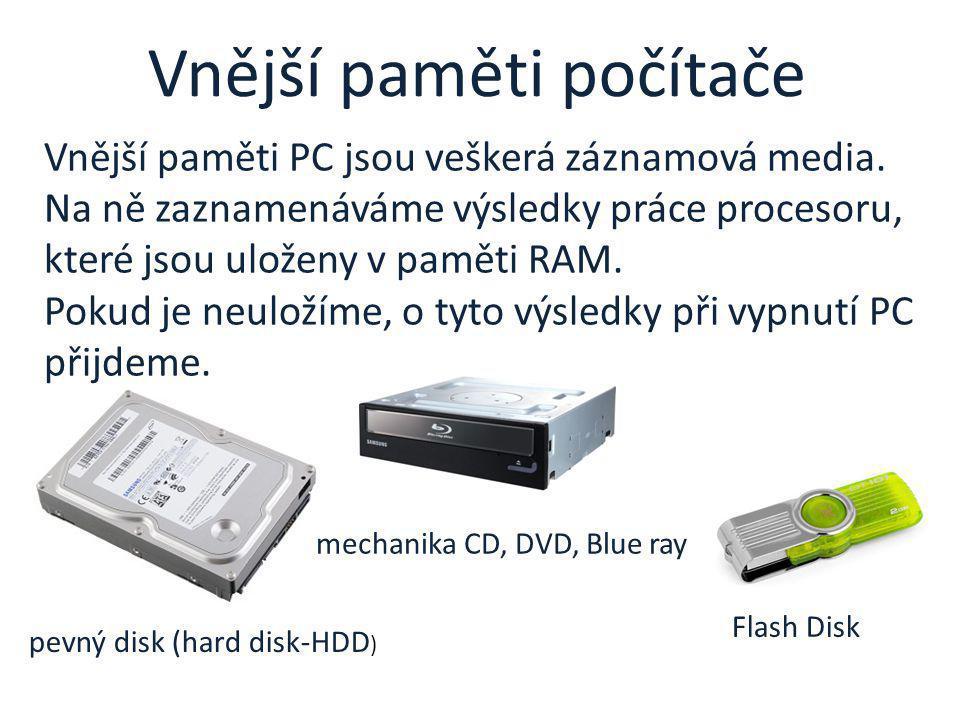 Vnější paměti počítače
